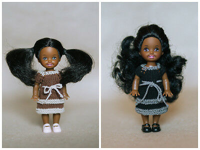 """Lot of knitted dresses for Kelly doll 4"""" Barbie doll sister"""