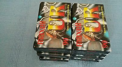 New & Sealed Blank Cassette Tapes Maxwell UR 90 x 10