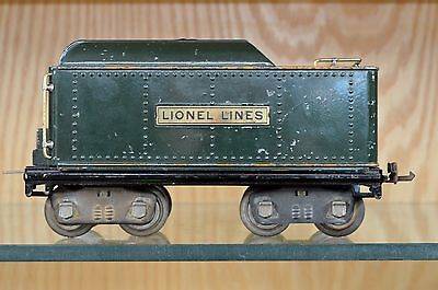 Lionel 384 Standard Gauge Tender - Rare - Green Painted with Orange Trim