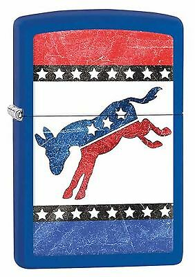 Zippo Lighter: Democrat Donkey - Royal Blue Matte 29166