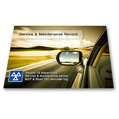 Premium Vehicle Service Book - Blank History Log Maintenance Record Replacement