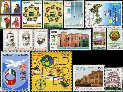 Pakistan Stamps 1993 Year Pack Dresses Of Pakistan Food Day Fishes