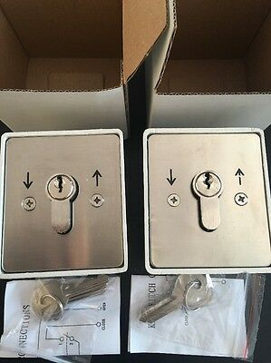 2 Pcs Key switch for roller shutters with 3 Keys Each