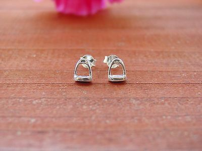 Stirrup Horse Tiny Stud Earrings,Equestrian Jewelry,Stirrup Jewelry