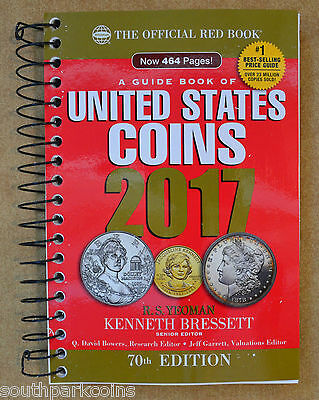 **New 2017 Spiral Redbook - Official Guide Book of U.S. Coins (25% Off)*