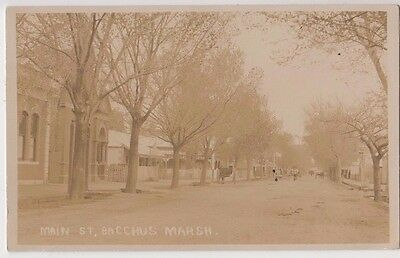 Real photo postcard Main Street Bacchus Marsh Victroria by unknown producer