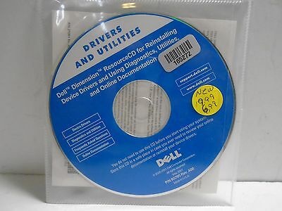 Dell Drivers And Utilities Reinstalling CD 9G705 ID165272-DD601