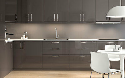 Ikea Ringhult Gloss Grey Kitchen Cabinet Doors and Drawer Faces- Sektion Gray