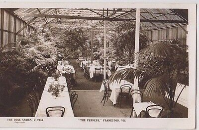 "Real photo Rose postcard ""The Fernery"" restaurant Frankston Victroria text back"