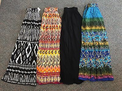 NWT Chaudry Women's Long Length Pull-On Maxi Skirt Boho Peasant Gypsy XS S M L