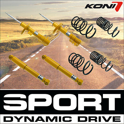 KONI Shock Absorber Sport Kit Front Axle Rear Axle 4x (19122)