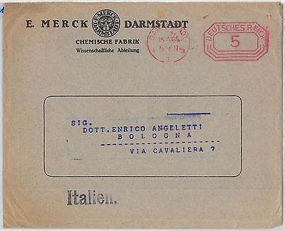 59894  -  GERMANY  -  POSTAL HISTORY:  COVER to ITALY  1925 -  CHEMICALS