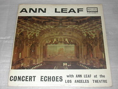 Ann Leaf Concert Echoes USA LP CR 0083 Good/Ex