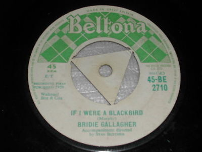 "Bridie Gallagher Moon Behind The Hill / If I Were A Blackbird 7"" Single"