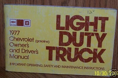 1977 Chevrolet Truck Light Duty Owners Manual 77