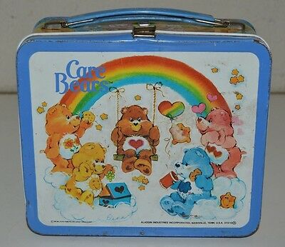 Vintage 1983 Care Bears Cartoon TV Show Metal Lunchbox C6.5+ Rare
