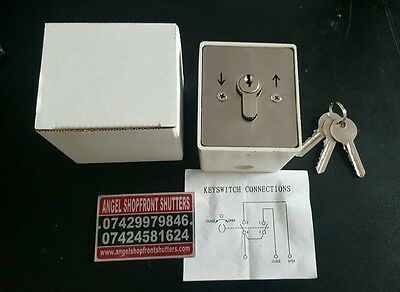 Heavy Duty Roller Shutter Key Switch With 3 Keys