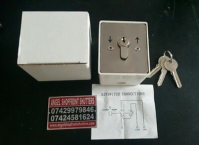 Key Switch With 3 Keys For Roller Shutters Of All Types Next Day Delivery