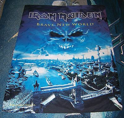 Vintage IRON MAIDEN Tapestry Flag Wall Hanging Banner Poster BRAVE NEW WORLD