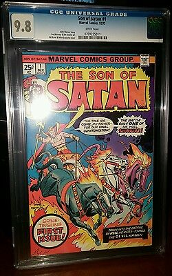 Son Of Satan #1 Cgc 9.8 White Pages