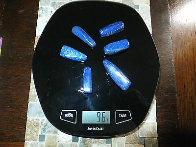 LAPIS LAZULI BEAUTIFUL STONES x 6 SPECIMENS TOTAL 96g [ 480Ct]