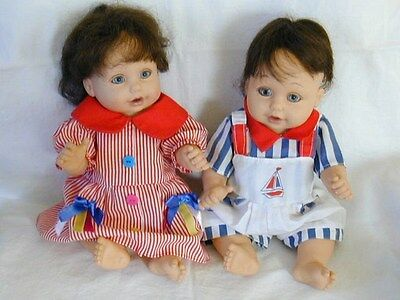 """Baby So Beautiful Dolls, Boy & Girl Fully Jointed Vinyl, 12"""", Playmates Toys"""