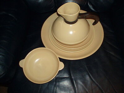 "Catalina Pottery Rancho Beautiful Carafe,14""Charger, Tab serving dish  2 Plates"