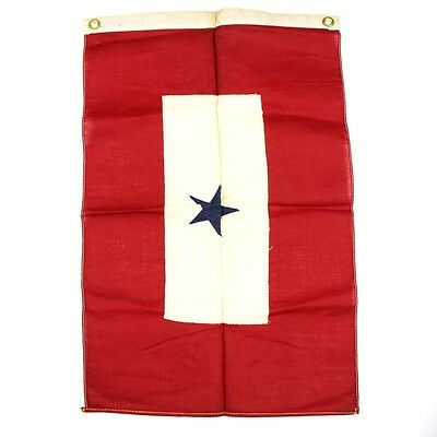Original Us Wwi Or Wwii Service Flag - Window Banner - 1 Sewn Star Patriotic