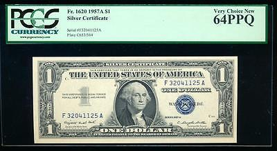 AC 1957A $1 Silver Certificate PCGS 64 PPQ  Fr 1620 uncirculated