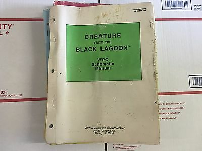 Creature from the Black Lagoon Schematic Pinball Machine Manual