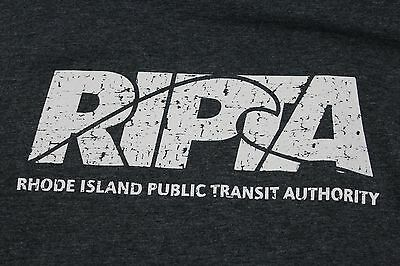 Large gray Rhode Island Public Transit Authority t shirt