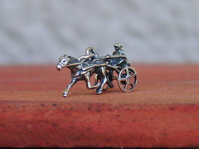 Harness Racing Moving Sulky Wheel Trotter Pendant Equestrian With Black Cord