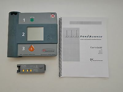 HP Philips Heartstream Semi Automatic Defibrillator AED + Battery
