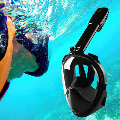 NEOpine Full Face Snorkeling Mask Scuba Anti-fog Diving Snorkel Set Goggles S/M