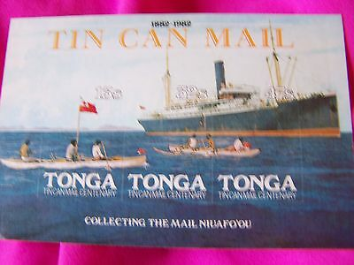 1982 TIN CAN MAIL 100th anniv.Stamp Set 13s, 32s and 47s-nice!