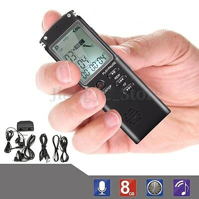 8GB Digital Audio Voice Sound Recorder USB Dictaphone MP3 Player 3 Record Modes