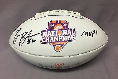 Ben Boulware SIGNED Clemson Tigers 2016 National Champions Football PHOTO PROOF
