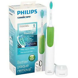 Philips Sonicare Electric Toothbrush PowerUp 1 Series in Green - UK SELLER