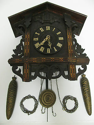 mid-late 1800's Black Forest Station Style Cuckoo clock, rare, working condition