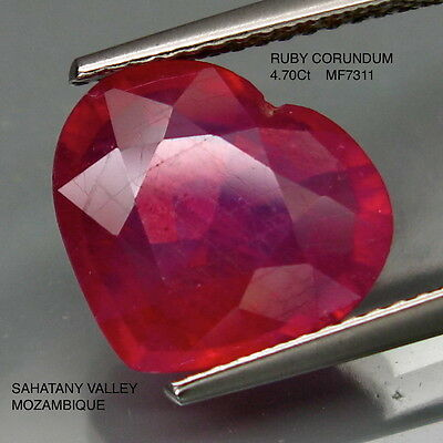 RUBY CORUNDUM NATURAL MINED [TREATED] 4.70Ct  MF7311