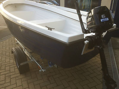 Clinker Style 12 Foot Fishing Boat And Trailer