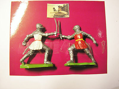 soldatini toy soldiers Herald Britains LTD Medievali plastica scala 1:32 #A