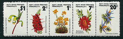 Australia Hutt River Province 1973 Flowers strip of 5