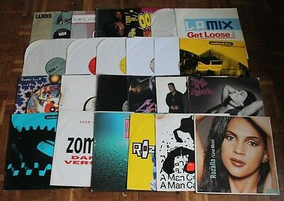 """Collection of 24 x House Electronic Dance Classic 12"""" Vinyl Records - Set 1"""