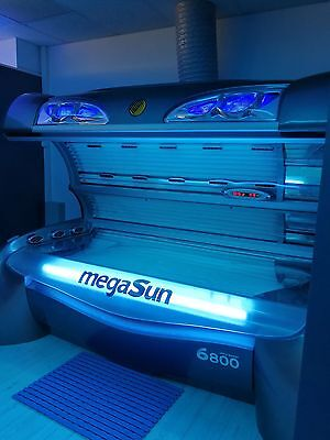 Megasun 6800 Grey Laydown Sunbed ! FREE DELIVERY AND INSTALATION