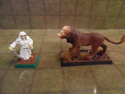 25mm / 28mm Painted Lion Animal Companion. Pathfinder Dnd Roleplaying. Minees