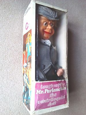 Mr Parlanchin in original box puppet ventriloquist doll very rare fully working