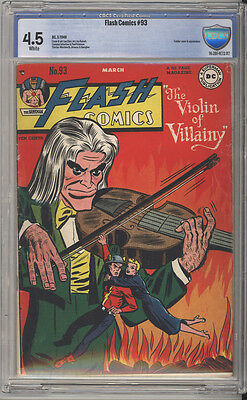 Flash Comics # 93  The Flash in The Violin of Villainy !  CBCS 4.5 scarce book !