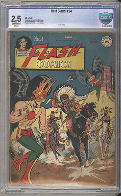Flash Comics # 94  The Flash, Hawkman, The Atom !  CBCS 2.5 scarce book !