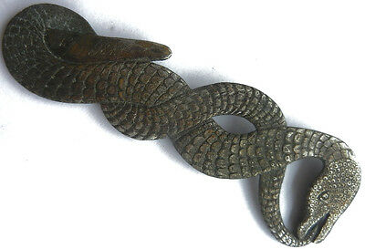 RARE Jewish or MASONIC Item SNAKE 18.II. 1898 Ouroboros The snake biting its own